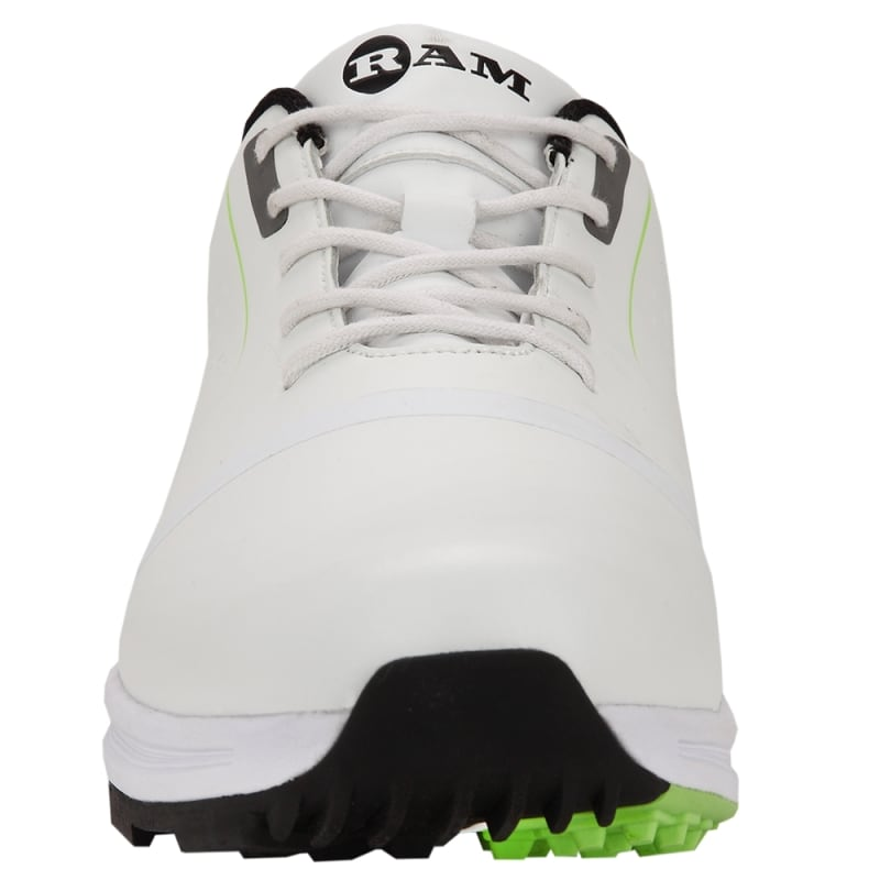 Ram Golf Player Mens Waterproof Golf Shoes - White / Green #2
