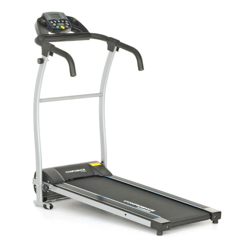 Ex-Demo Confidence Fitness TP-1 Electric Treadmill Folding Motorised Running Machine - Black