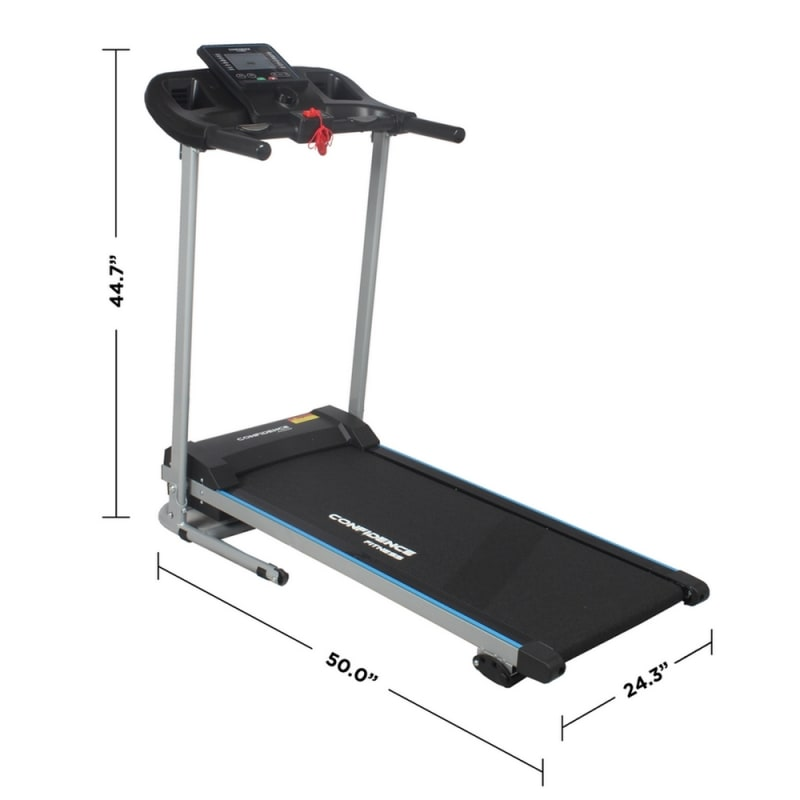 Confidence Fitness TP-2 Electric Treadmill Motorized Running Machine with Incline #1