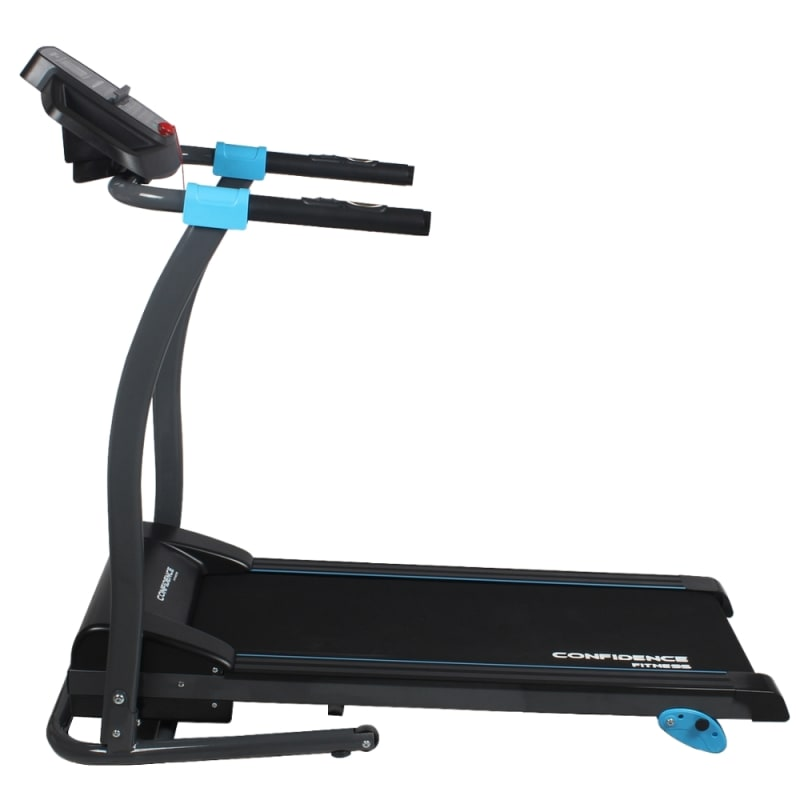 Confidence Fitness TP-3 Folding Electric Treadmill - Motorized Running Machine with Manual Incline, LCD and Phone/Tablet Holder #2