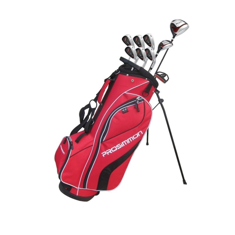 Prosimmon V7 Golf Package Set - Red - Stiff Flex