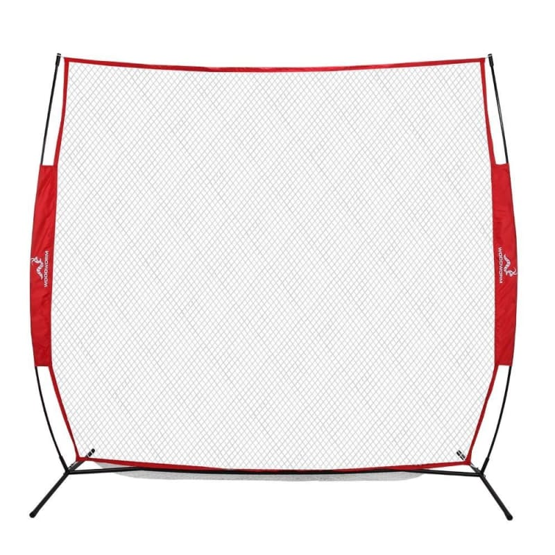 Wodoworm 7ft x 7ft Quick Up Sports Bow Frame and Net - Practice/Protective Net Screen for Baseball, Softball and Other Sports