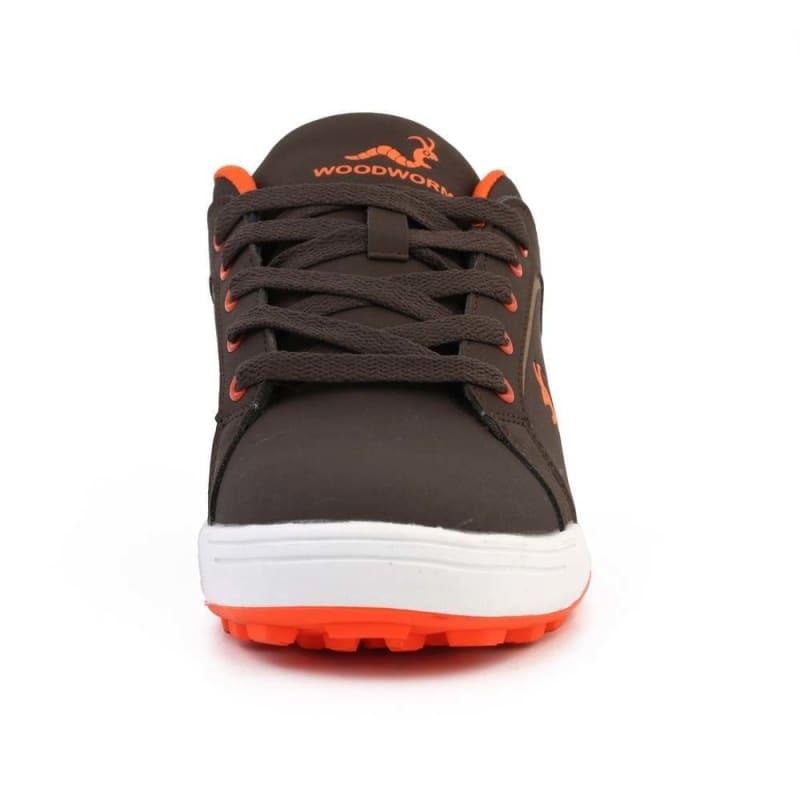 Woodworm Golf Surge V3 Mens Golf Shoes Brown/Orange #3