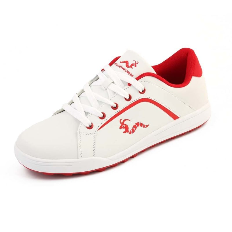 Woodworm Golf Surge V3 Mens Golf Shoes White/Red