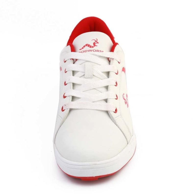 Woodworm Golf Surge V3 Mens Golf Shoes White/Red #3