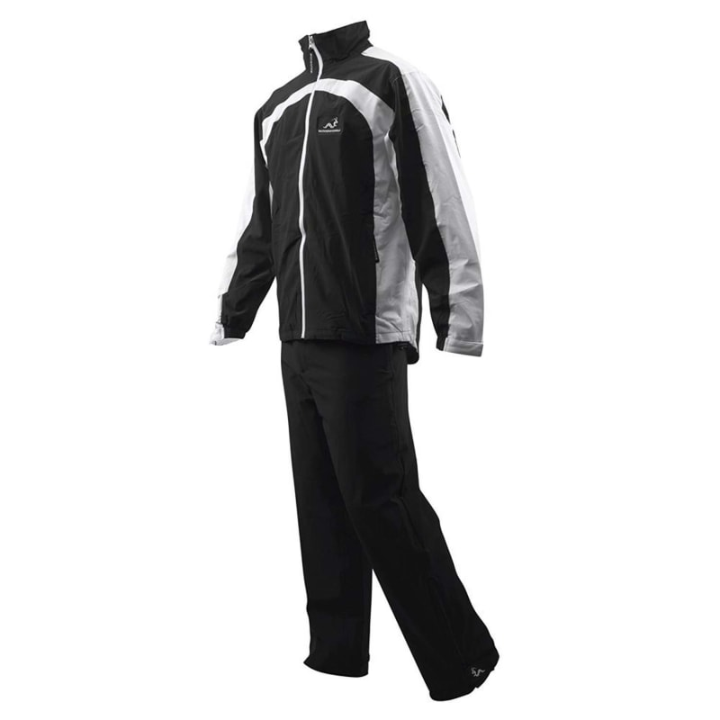 Woodworm Golf Waterproof Suit - Black/White