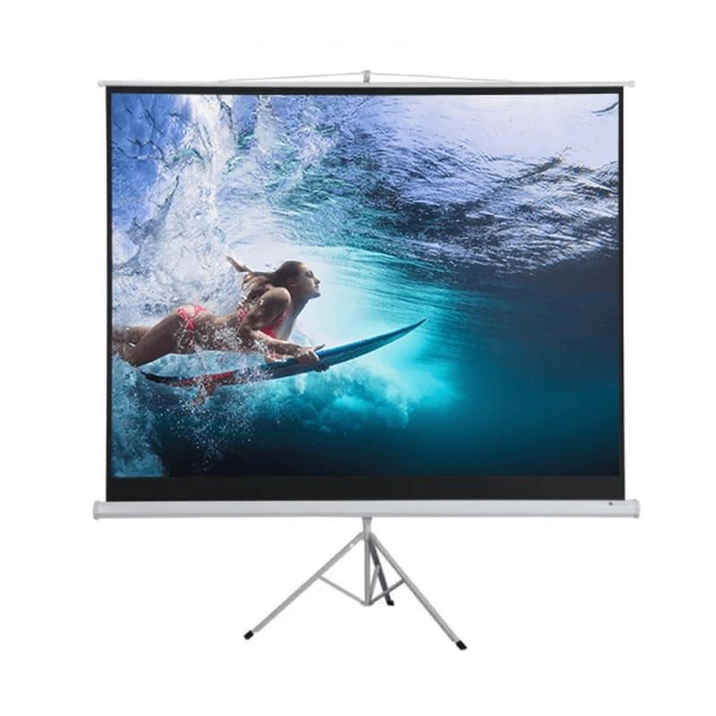"""OPEN BOX Homegear 100"""" 4:3 Tripod Projector Screen HD #1"""