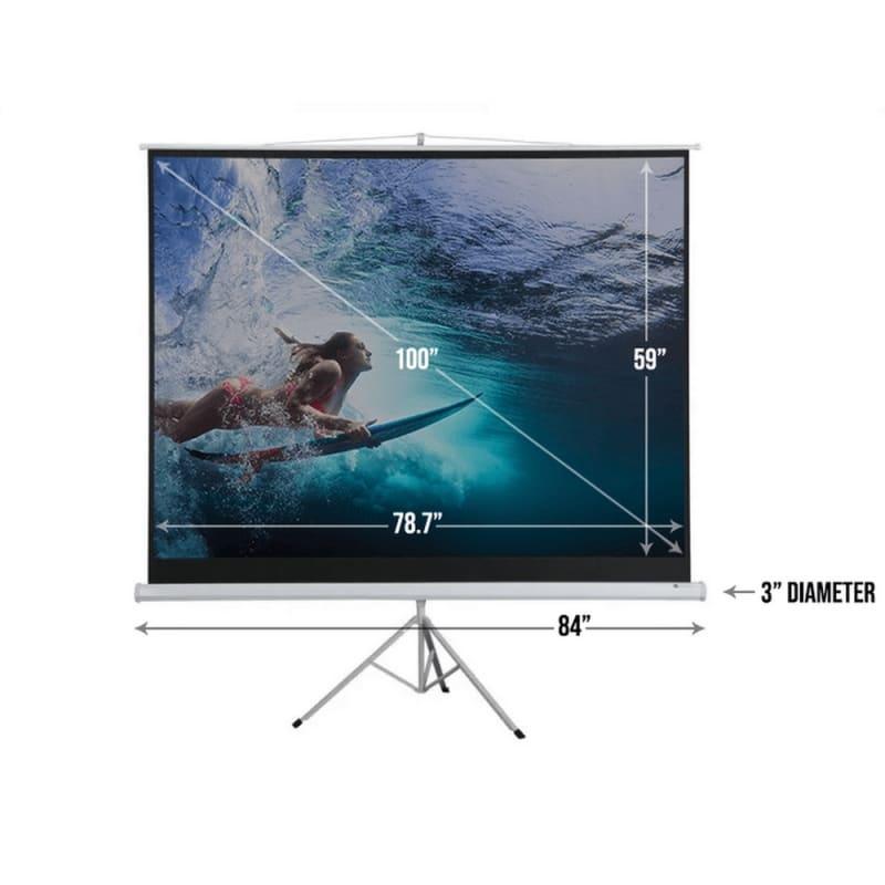 """OPEN BOX Homegear 100"""" 4:3 Tripod Projector Screen HD #3"""