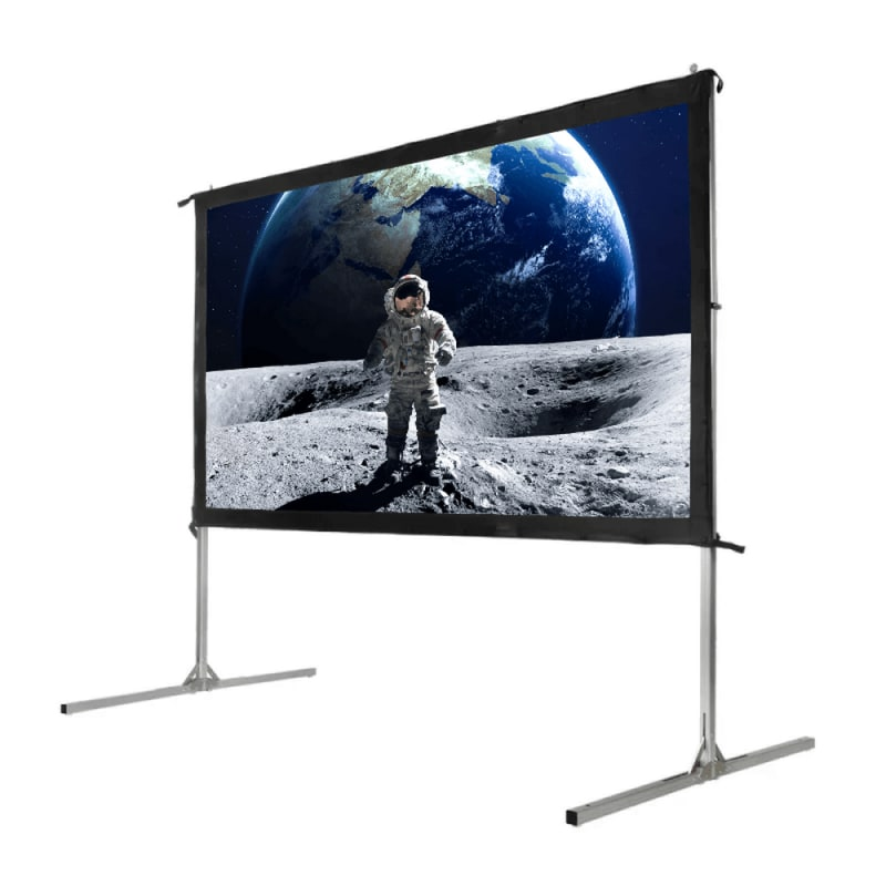 """Homegear Fast Fold Portable 110"""" Projector Screen 16:9 HD for Indoor/Outdoor Use #2"""