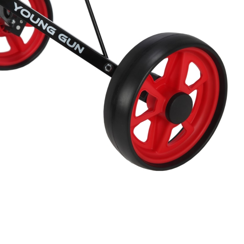 Young Gun Kids Adjustable Golf Cart for Junior Golfers 3-14 Years Old - Black/Red #4