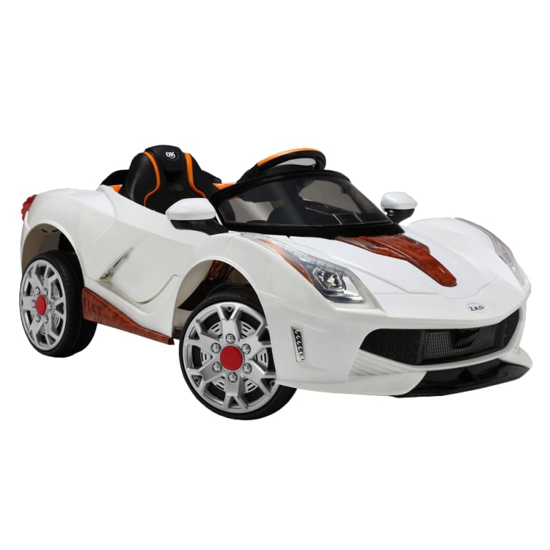 ZAAP Sports Car 12v Ride On Kids Electric Battery Toy Car White