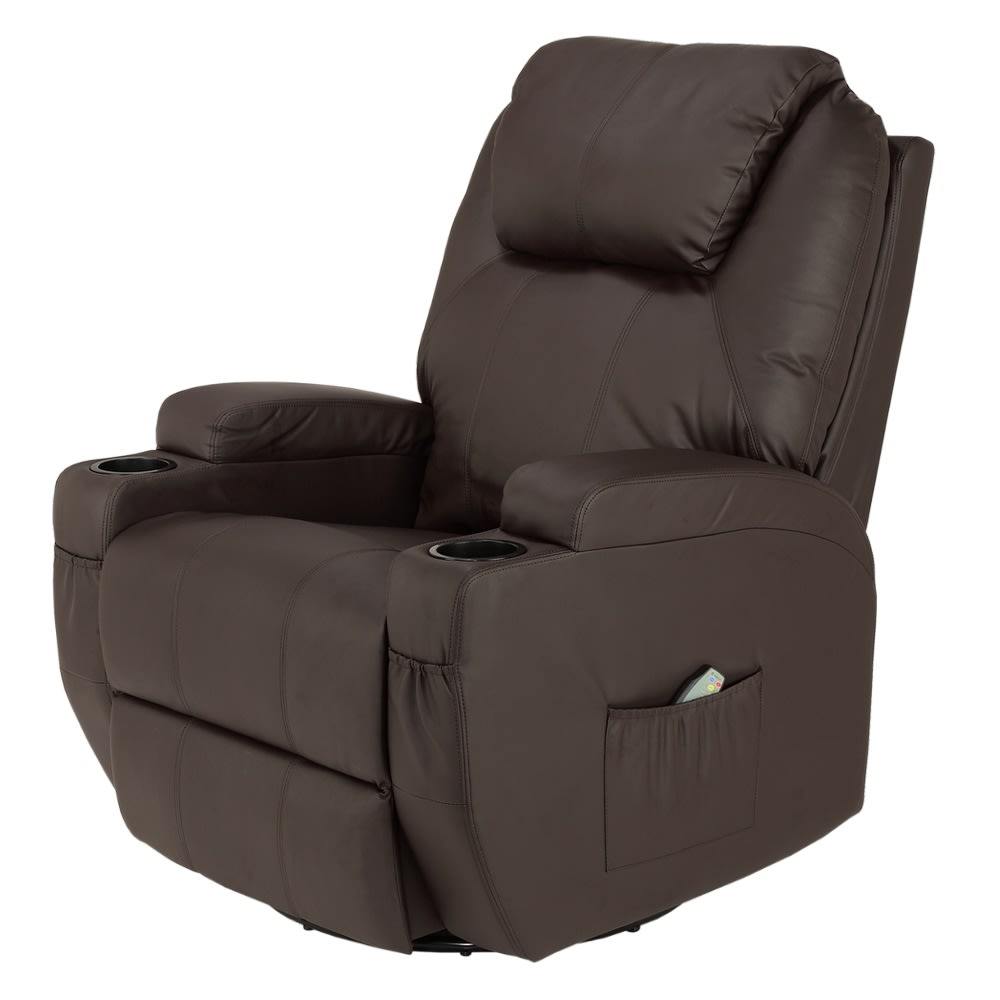 Homegear Recliner Chair with 8 Point Electric Massage and ...