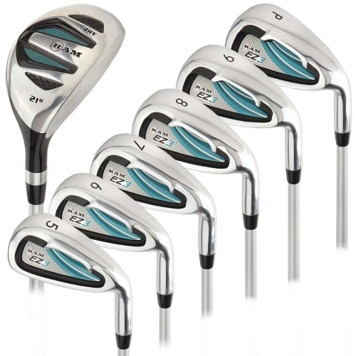 Ram Golf EZ3 Ladies Right Hand Iron Set 5-6-7-8-9-PW - FREE HYBRID INCLUDED