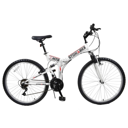 Stowabike Folding MTB V2 Mountain Bike Red / White