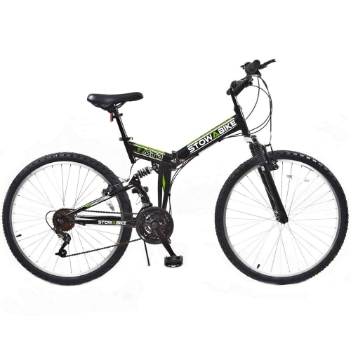 Stowabike Folding MTB V2 Mountain Bike Black / Green