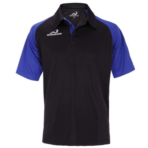 Woodworm Pro Cricket Short Sleeve Shirt Royal Blue