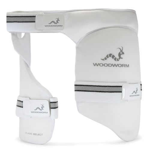 Woodworm Cricket Flame Youth Dual Thigh Pad/Inner Thigh Lower Body Protector, Right Hand
