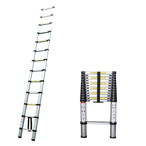 OPEN BOX Homegear 12.5ft Telescopic Extension Ladder