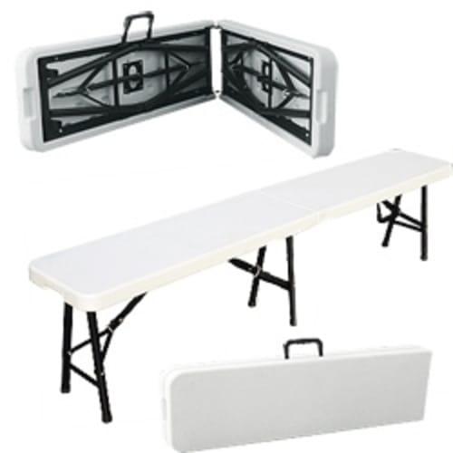 EX-DEMO Palm Springs 6ft Folding Plastic Bench - White