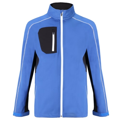 Woodworm Golf Full Zip Soft Shell Jacket - Blue