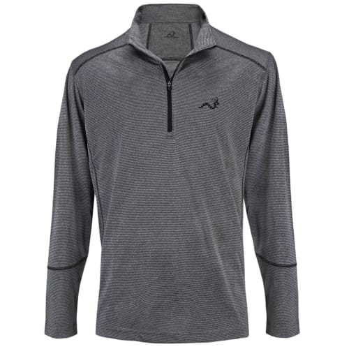 Woodworm Golf Heather Stitch Striped Pullover - Grey