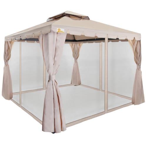 OPEN BOX Palm Springs 10' x 10' Deluxe Gazebo / Party Tent
