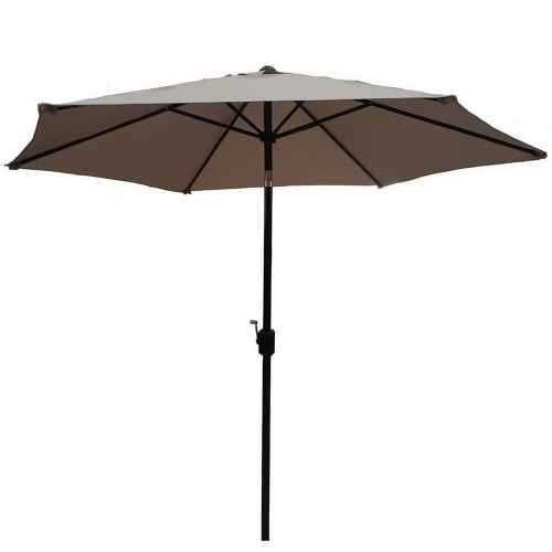 OPEN BOX Palm Springs 9ft Aluminium Patio Umbrella w/ Tilt Tan