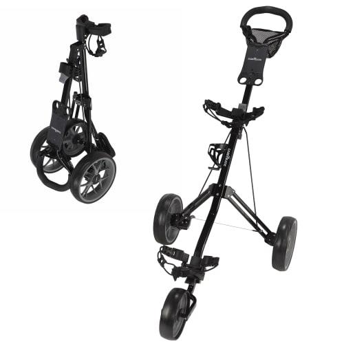 Caddymatic Golf Pro Lite 3 Wheel Golf Cart Black/Grey