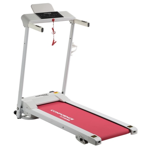 Confidence Fitness Ultra Pro Treadmill Electric Motorized Running Machine White/Pink