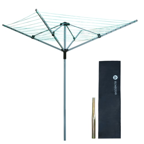 Homegear 4 Arm 60m Rotary Airer / Washing Line