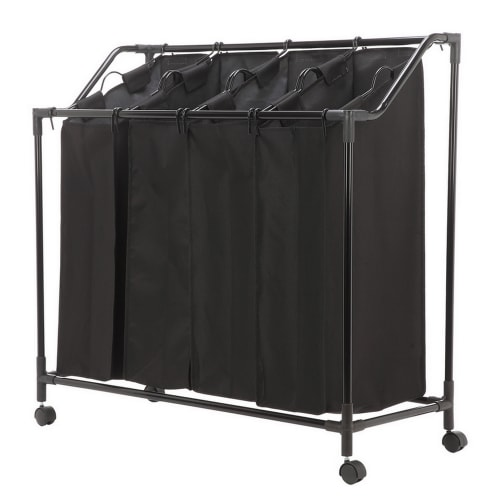 Homegear Rolling Laundry Bin / Sorter With 4 Hanging Bag