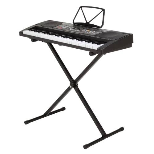Homegear Musical Instruments 61 Key Electronic Piano Keyboard with Stand