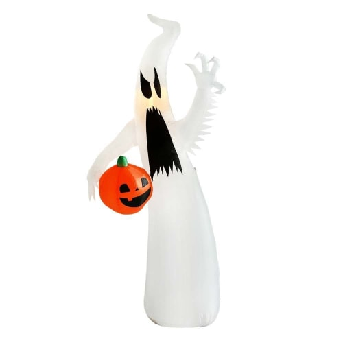 OPEN BOX Homegear Halloween Decorations 8 Feet Inflatable Ghost with LED Glow Light