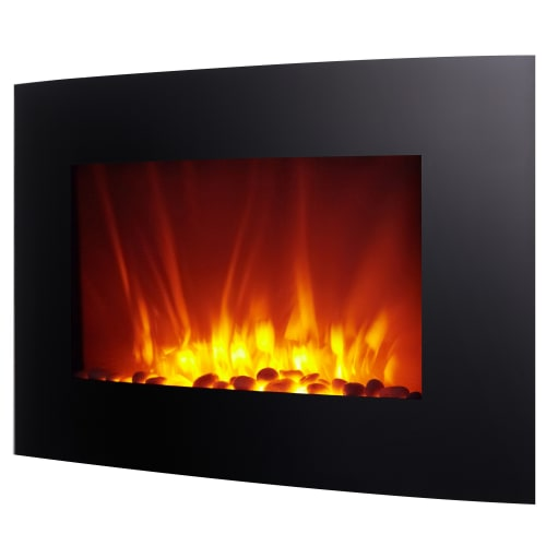 OPEN BOX Homegear 1500W Wall Mounted 2-in-1 Electric Fireplace / Heater