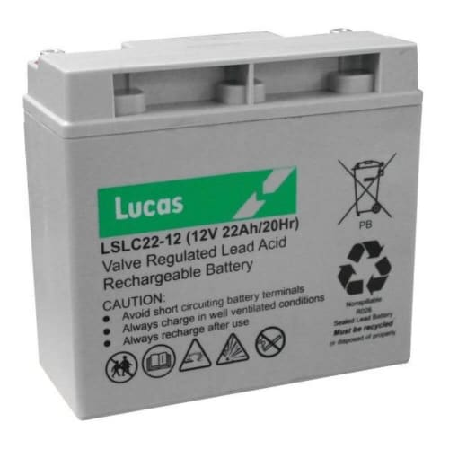 Lucas 12V 22aH Electric Golf Trolley Battery