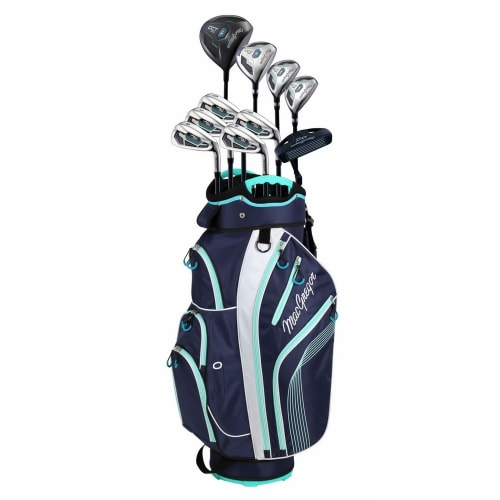 MacGregor DCT2000 Premium Ladies Golf Package Set with Titanium Driver and Stainless Clubs, All Graphite Shafts, Lady Flex