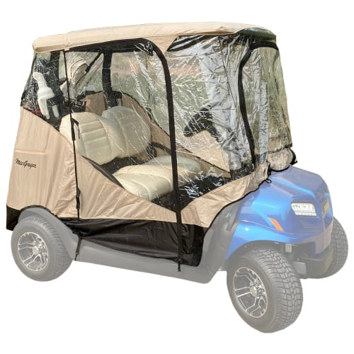 MacGregor Golf Cart Cover / Enclosure with Zippered Doors, Front and Rear