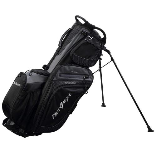 MacGregor Golf Hybrid Stand / Cart Golf Bag with 14 Way Divider, Black
