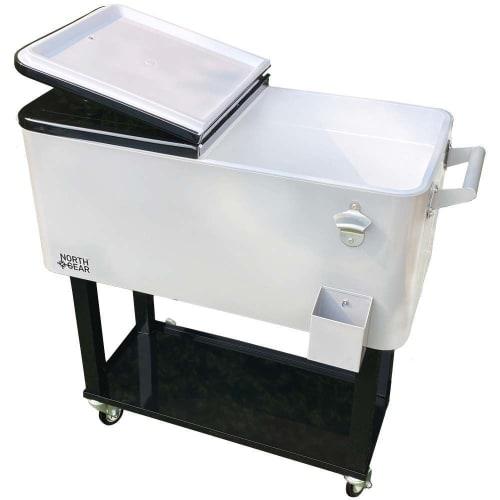 OPEN BOX North Gear Outdoor 80 Quart Rolling Cooler