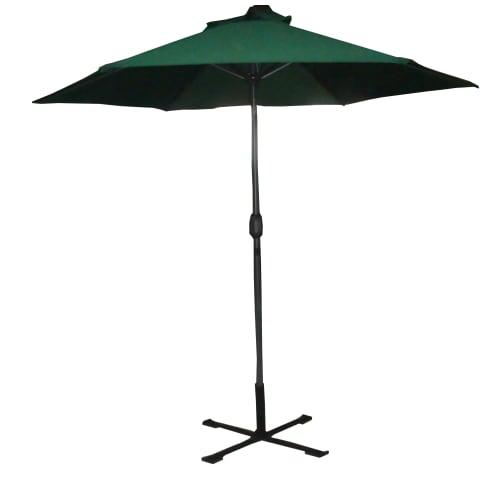 OPEN BOX Palm Springs 8ft Aluminium Patio Umbrella w/ Tilt Green