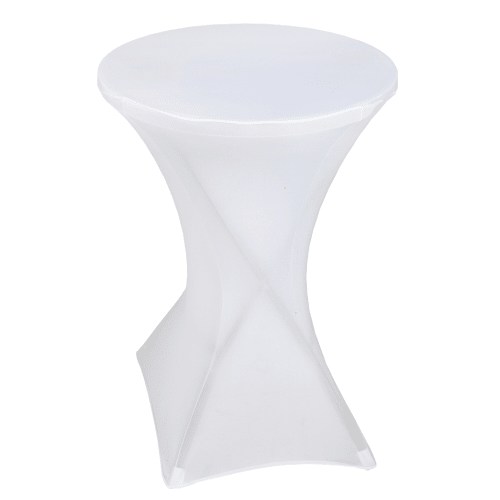 "OPEN BOX Palm Springs 32"" Round White Plastic 43"" High Folding Bar Table with Cover White"