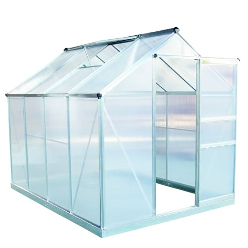 OPEN BOX Palm Springs 6ft x 8ft Aluminum Walk in Greenhouse