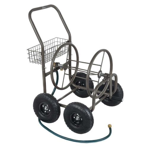 Palm Springs 4 Wheel Portable Garden Hose Reel Cart on Wheels - Holds 250ft Garden Hose