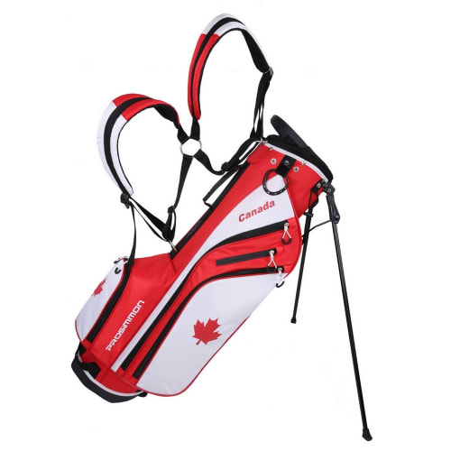 "Prosimmon Golf DRK 7"" Lightweight Golf Stand Bag with Dual Straps Canadian Flag"