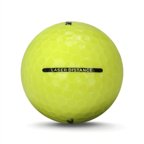 72 RAM Golf Laser Distance Golf Balls - Yellow - Back