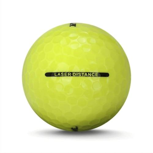 72 RAM Golf Laser Distance Golf Balls - Yellow - Back