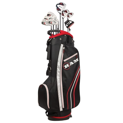 Ram Golf Accubar 12pc Golf Clubs Set - Graphite Shafted Woods, Steel Shafted Irons - Mens Right Hand