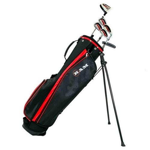 Ram Golf SGS Mens Golf Clubs Starter Set with Stand Bag - Steel Shafts