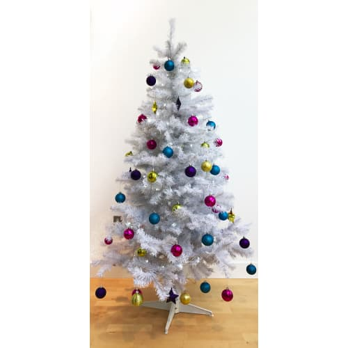 OPEN BOX Homegear 6ft White Artificial Xmas Tree