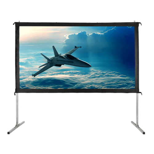 """OPEN BOX Homegear Fast Fold Portable 120"""" Projector Screen 16:9 HD for Indoor/Outdoor Use"""